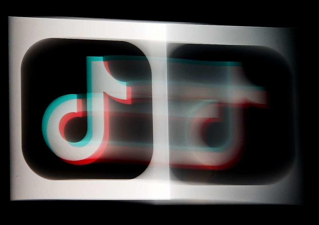 Logo der Tiktok-App auf einem Smartphone-Screen.    Foto: OLIVIER DOULIERY (AFP)
