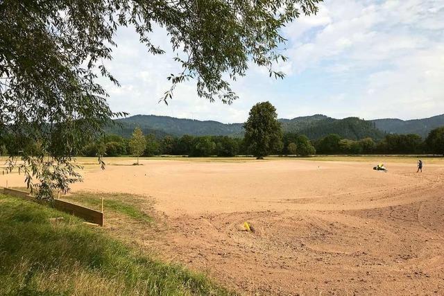 Zwei neue Bahnen sind derzeit auf dem Golfplatz in Kirchzarten im Bau