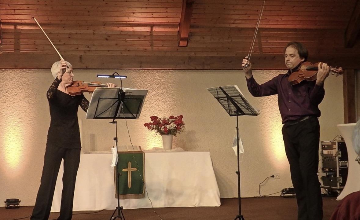 Mit unbändiger Musizierlust am Werk: Ines Then-Bergh und Sebastian Wohlfahrt    Foto: Bianca Flier