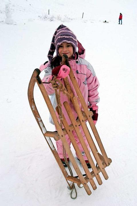 """Lara Djakovac, 7, aus Gündlingen: &#82...unten einen Überschlag gemacht.""""    Foto: Ingo Schneider"""