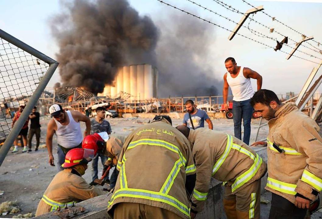 Die Detonationen ereigneten sich in der Gegend des Hafens.  | Foto: ANWAR AMRO (AFP)
