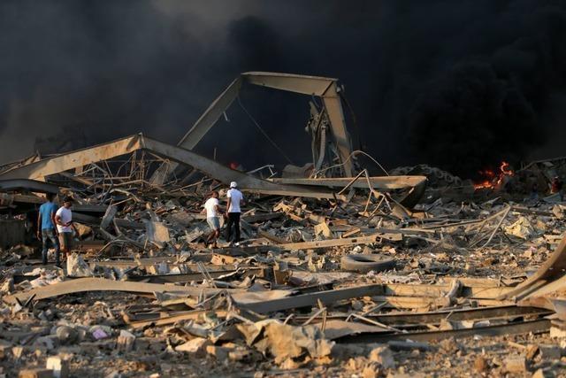 Gewaltige Explosionen erschüttern Beirut – Viele Tote und Verletze