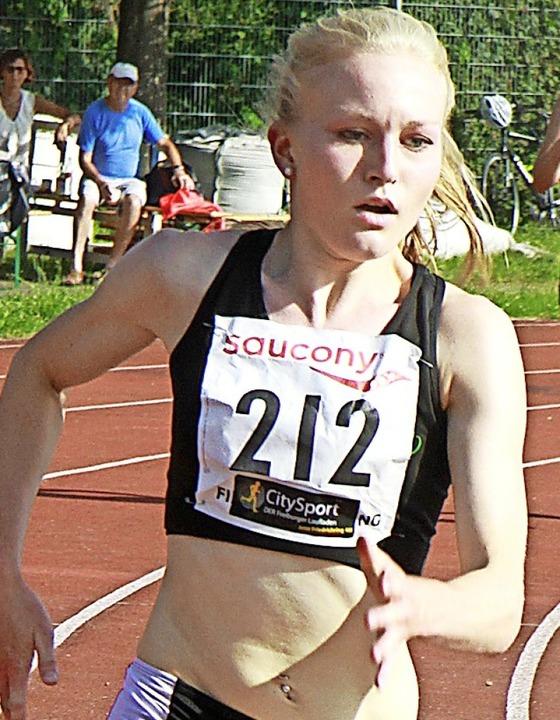 Verbesserte ihre persönliche Bestzeit ...Meter um sechs Sekunden: Sophia Sommer    Foto: Winfried Stinn