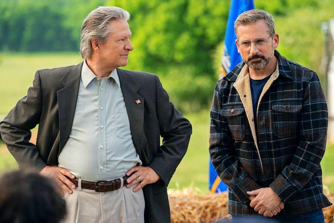 Jack Hastings (Chris Cooper, li.) soll...r (Steve Carell) Bürgermeister werden.  | Foto: Daniel Mcfadden (dpa)