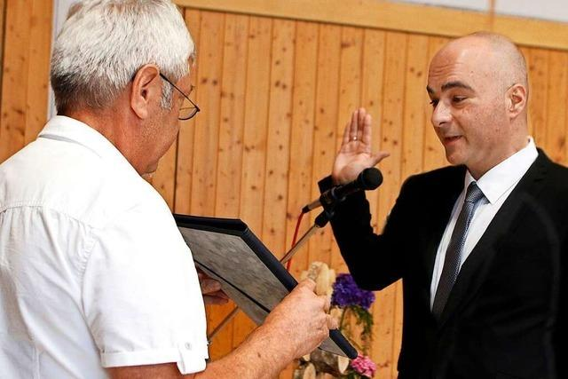 Matthias Litterst ist in Schuttertal vereidigt worden