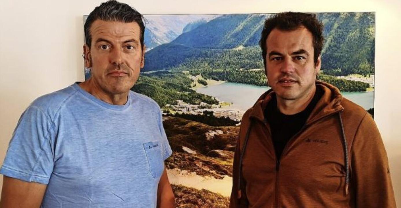 Die MTB-Macher: Rik (links) und Kai Sauser     Foto: Sauser
