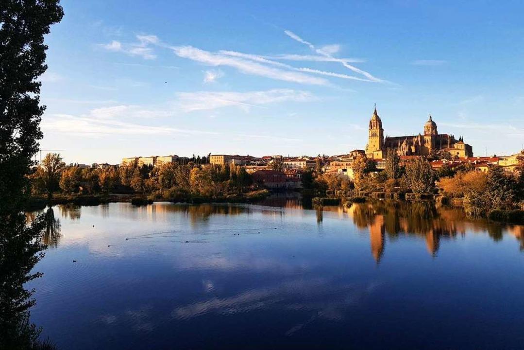 Die Kathedrale prägt das Stadtbild Sal...1; hier vom Fluss Tormes aus zu sehen.  | Foto: Claudia Förster Ribet