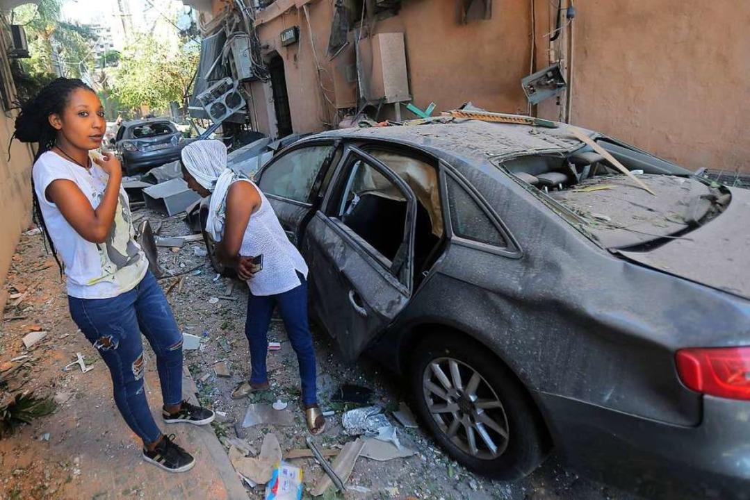 Viele Menschen in Beirut sind durch das Unglück obdachlos geworden.  | Foto: STR (AFP)
