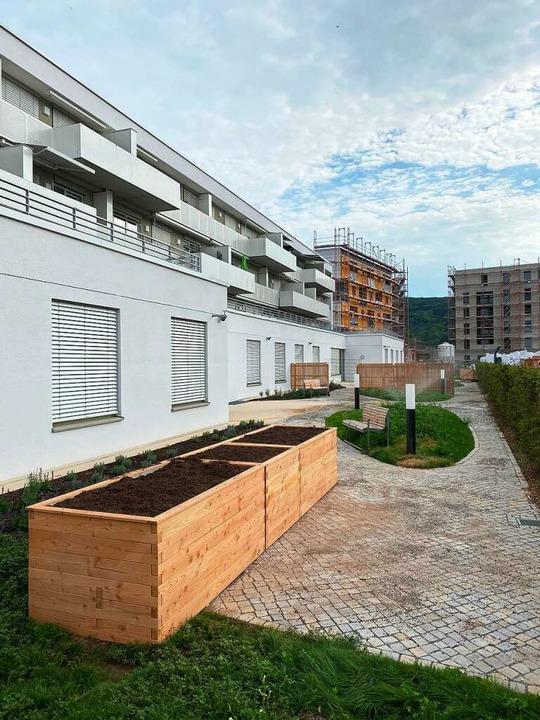 36 Mietwohnungen an der August-Bauer-S...  der restlichen 50 soll nun anlaufen.  | Foto: städtische Wohnbau