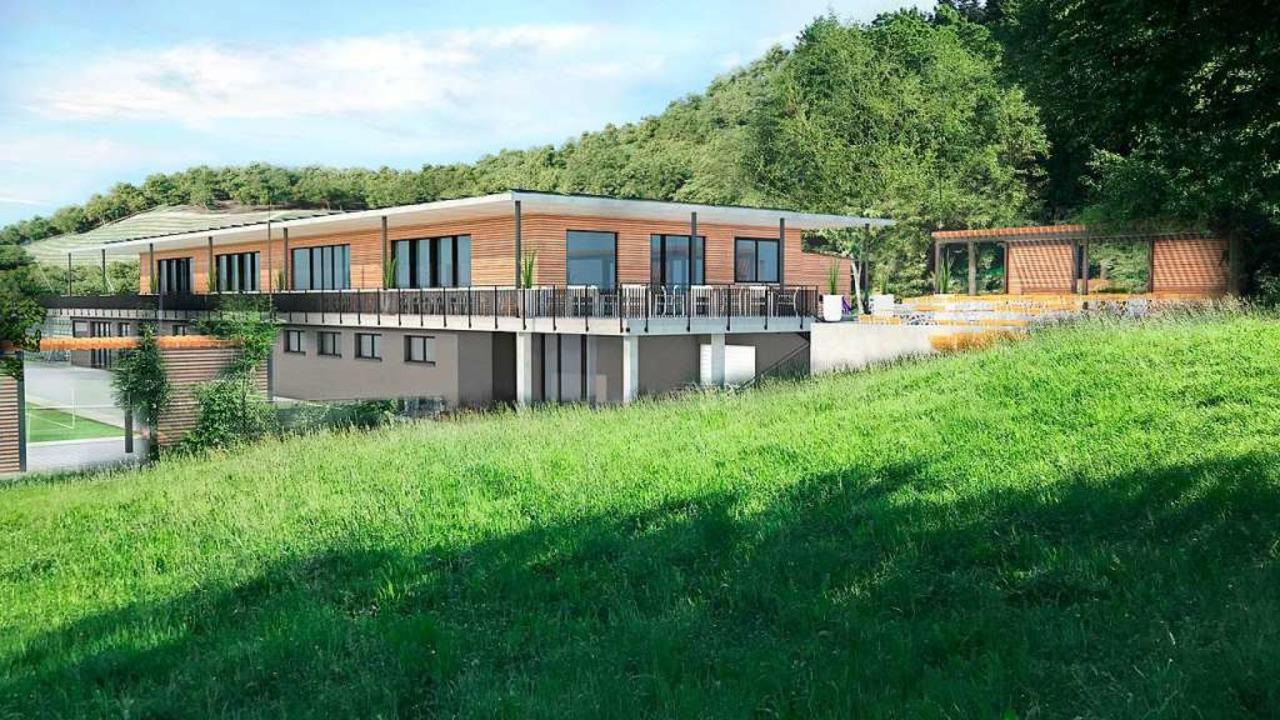 So könnte das Vereinsheim einmal aussehen.  | Foto: Büro Höfler&Stoll heitersheim