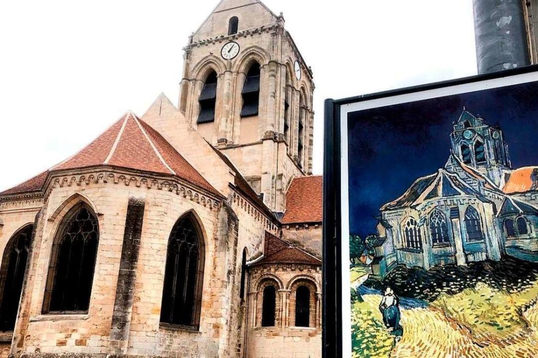 Die Kirche von Auvers-sur-Oise, wo Vin... Gogh seine letzten  Bilder gemalt hat  | Foto: Knut Krohn