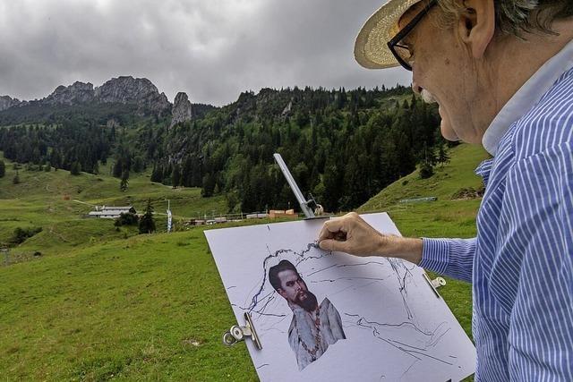 Ludwig II. als Konterfei im Felsen?