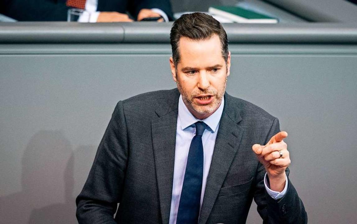 FDP-Fraktionvize Christian Dürr will g...r dem Bundesverfassungsgericht klagen.  | Foto: Kay Nietfeld (dpa)