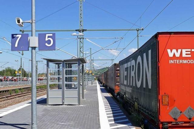 Bahnsteig drei in Weil am Rhein ist saniert