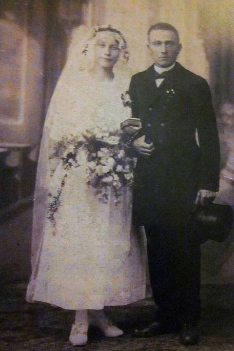 Das Hochzeitsfoto von Else und Karl-Friedrich Wagner  | Foto: Privat