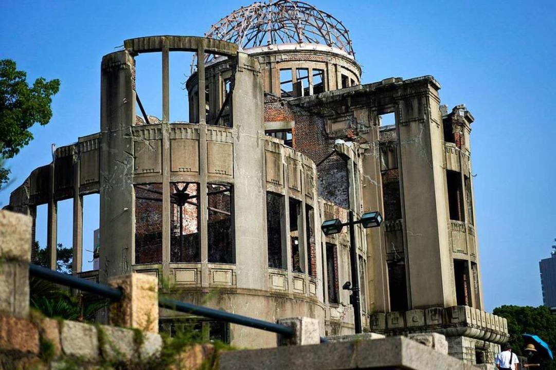 Die sogenannte Atombombenkuppel der ei...it 1996 zum Weltkulturerbe der UNESCO.  | Foto: Eugene Hoshiko (dpa)
