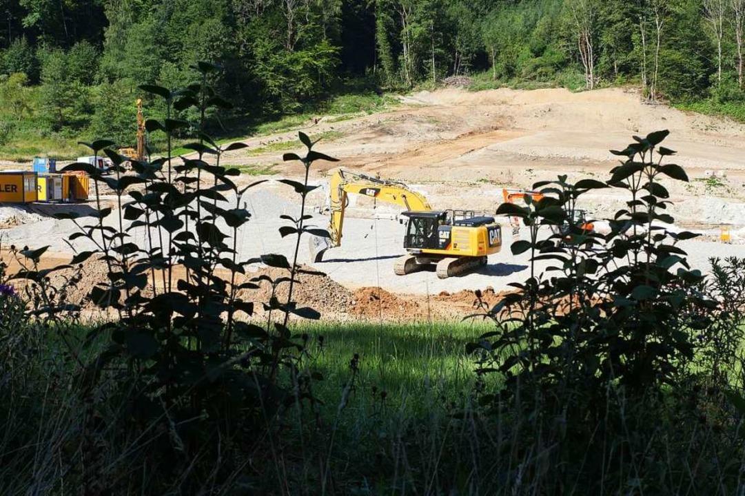 Auf der Baustelle des Bohrerdamms ist ein Lkw-Fahrer verunglückt.  | Foto: Jannik Jürgens