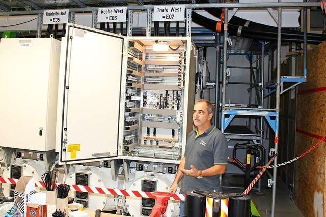 Das Umspannwerk am Kraftwerk in Wyhlen wird modernisiert