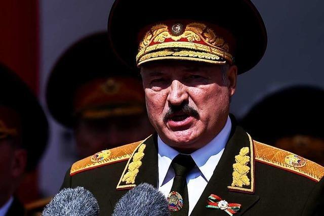 Lukaschenko droht dem eigenen Volk mit einem Blutvergießen