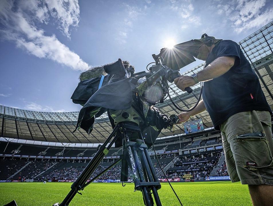 Die Leichtathletik-DM wird zum Fernseh-Event.  | Foto: Michael Kappeler (dpa)