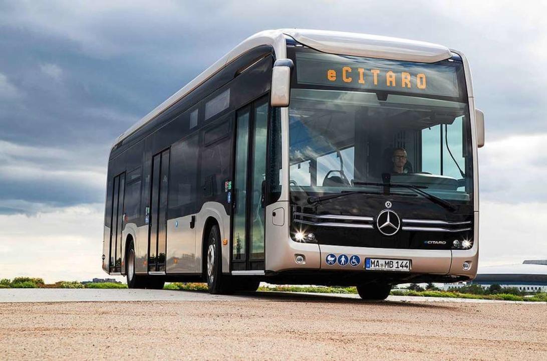 2022 will die SWEG einen mit Wassersto...s Elektrobusses eCitaro (Bild) ähneln.  | Foto: Daimler Truck AG