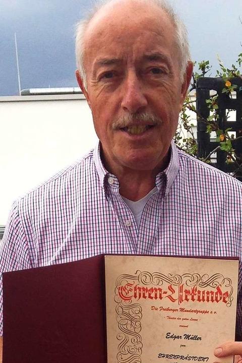 Nun Ehrenpräsident: Edgar Müller  | Foto: privat