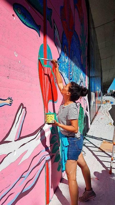 Wasser ist das Thema der Streetartmeile    Foto: Julia Jacob