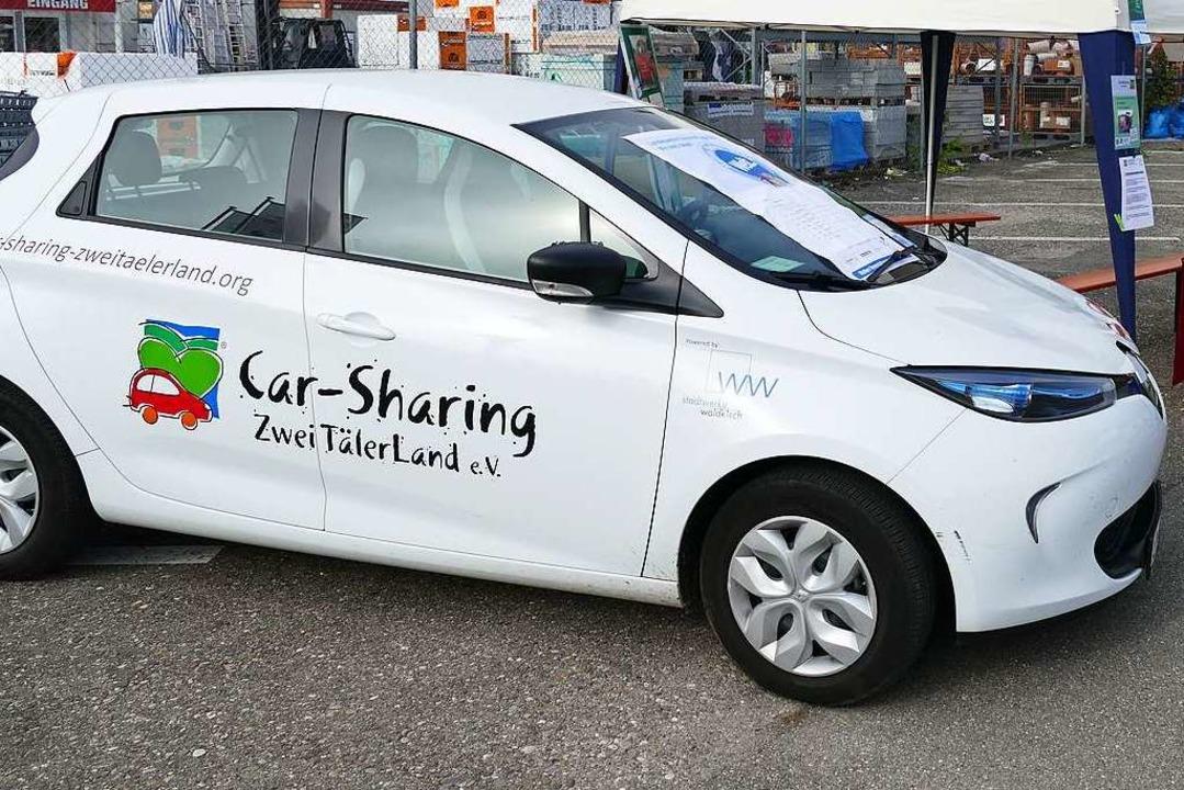 Auch ein Elektroauto zählt zum Fuhrpark von Car Sharing Zweitälerland.    Foto: Sylvia Sredniawa