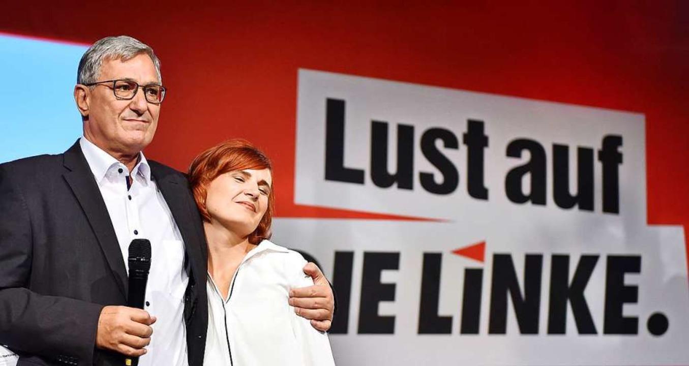 Ende August wollen sie erklären, ob si...der Wahlparty ihrer Partei in Berlin.   | Foto: Britta Pedersen
