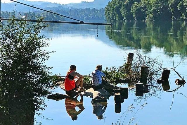 Badeleben am Rhein – idyllisch, aber auch sehr gefährlich