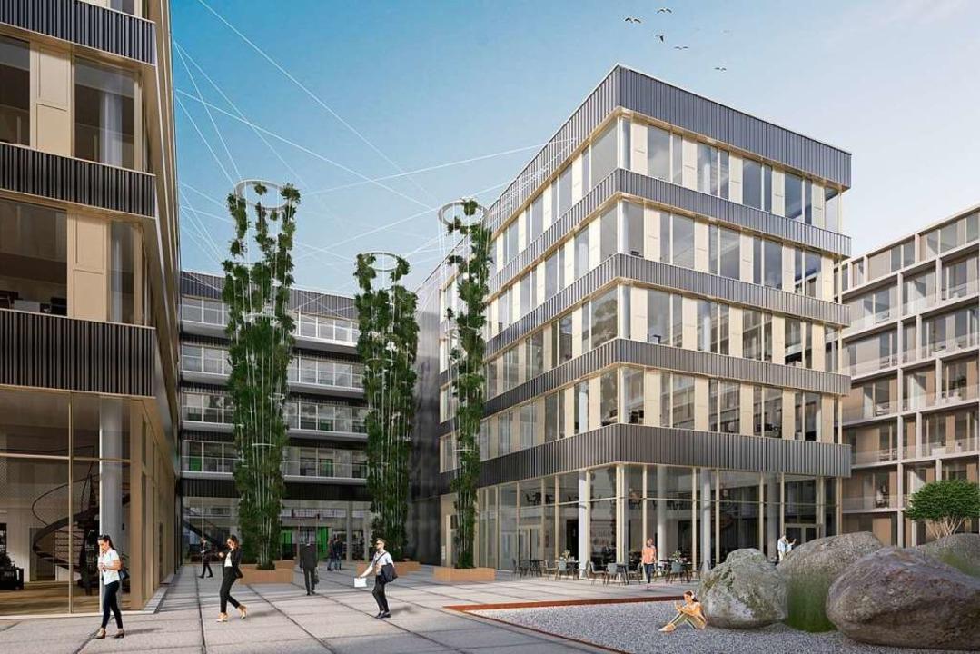 Milestone 4: Das Jobrad-Gebäude (2<ZAM-BlindTextAus>)</ZAM-BlindTextAus>  | Foto: Visualisierung: Stipan Vukovic für SRE