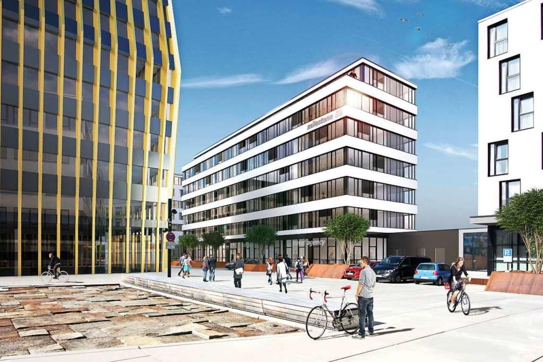 Milestone 5B: Bürogebäude im Bau  | Foto: Visualisierung: Stipan Vukovic für SRE