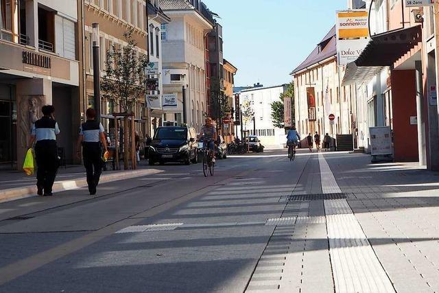Die neue Fußgängerzone in Lörrach braucht noch Gewöhnungszeit