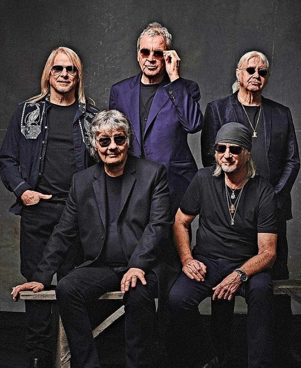 Ergraute Herren, die Rockmusik machen: Deep Purple     Foto: Ben Wolf