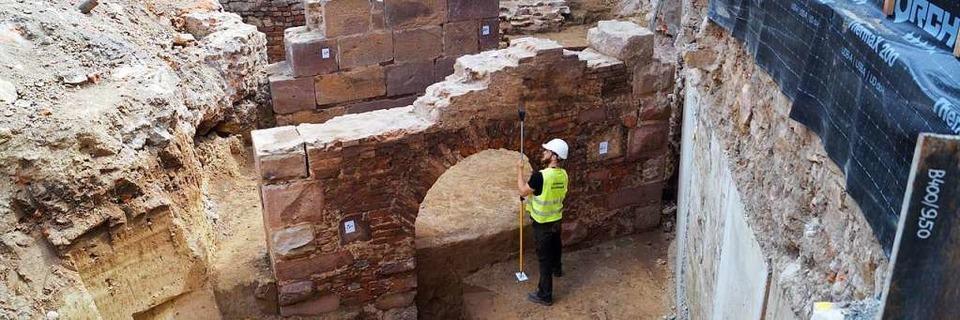 Archäologen freuen sich über spektakuläre Funde auf Offenburger Innenstadt-Baustelle