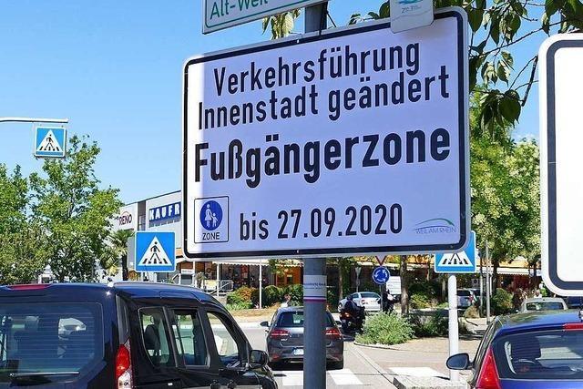 Ab Montag gibt es in Weil am Rhein eine Fußgängerzone