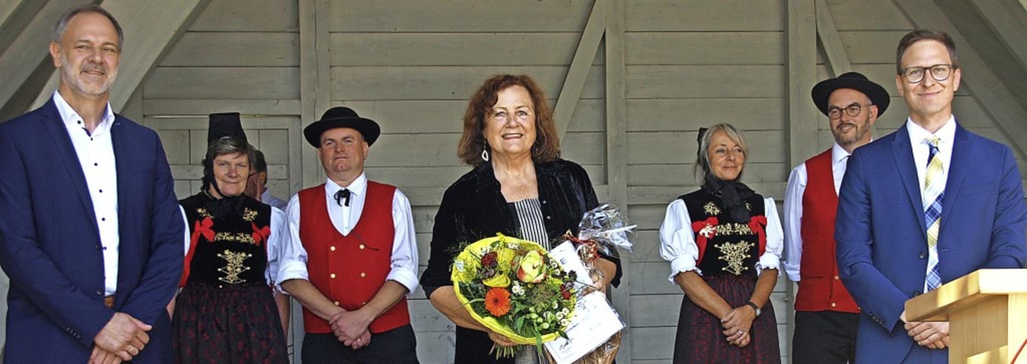 Bei  traditionell strahlendem Sonnensc...umrahmte die Verleihung stimmungsvoll     Foto: Karin Stöckl-Steinebrunner
