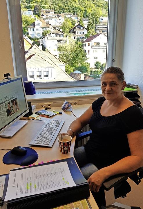 Corinna Steinkopf in ihrem neuen Büro    Foto: Landratsamt Waldshut