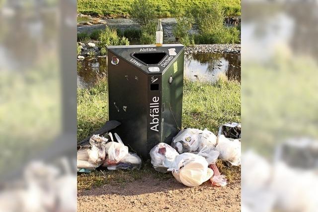 Die allermeisten Dreisambesucher lassen den Abfall nicht einfach liegen
