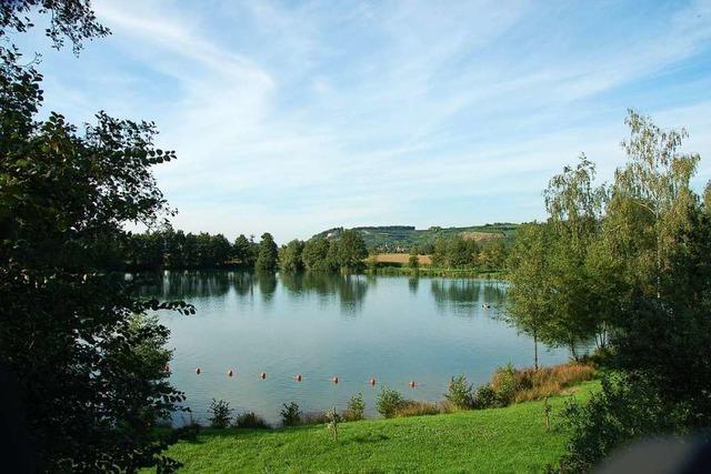 Rettungseinsatz am Malterdinger Baggersee am Sonntagnachmittag