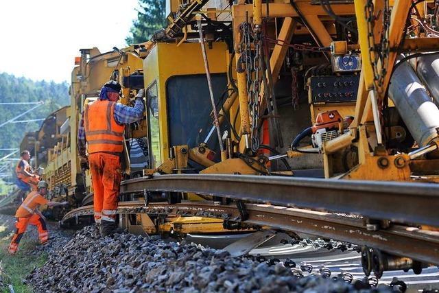 Zwischen Löffingen und Döggingen wird die Bahnstrecke erneuert