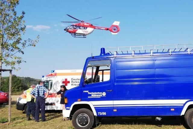 Tödlicher Badeunfall am Malterdinger Baggersee – Rettungshubschrauber im Einsatz