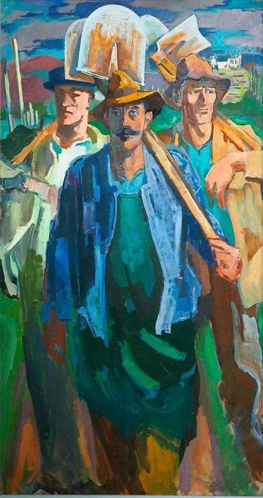 """Durchaus der Moderne verpflichtet: Ado...lin, """"Waldarbeiter"""" (1937)    Foto: Museum"""