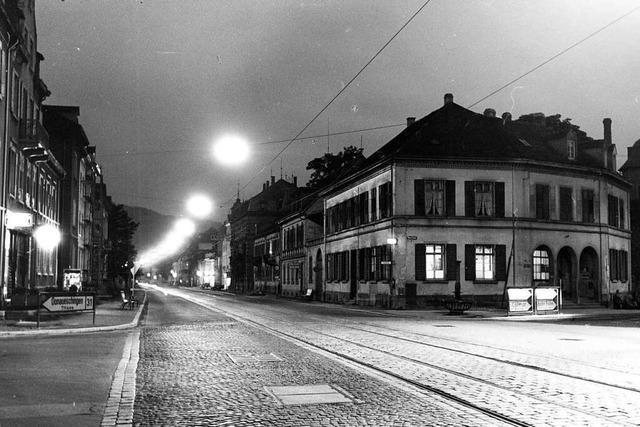 Bis 1957 stand an der Günterstalstraße das alte Zollhaus