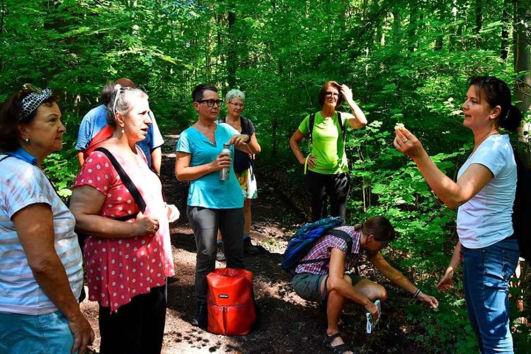 Bei der Wanderung mit Anja Kaiser (rechts) gab es viel zu entdecken.  | Foto: Heinz und Monika Vollmar