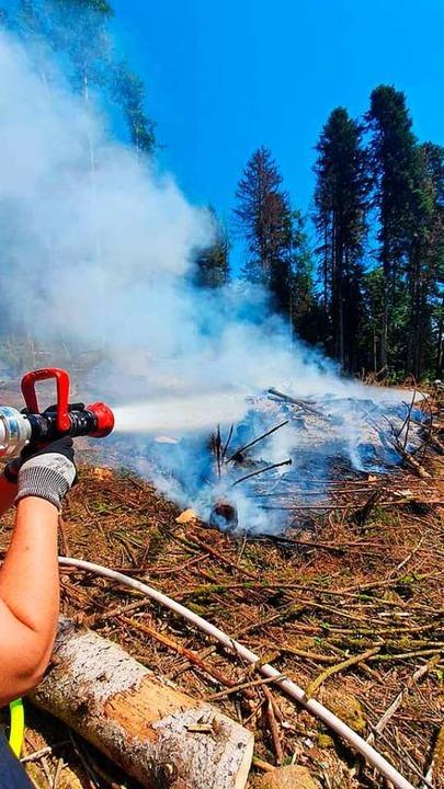 Die Feuerwehr Murg war am Sonntag bei ...ischen Hänner und Hottingen gefordert.  | Foto: Feuerwehr Murg