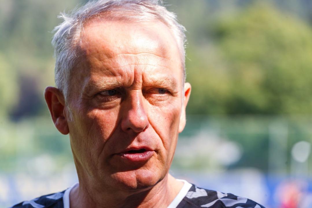 Cheftrainer Christian Streich  | Foto: Philipp von Ditfurth (dpa)