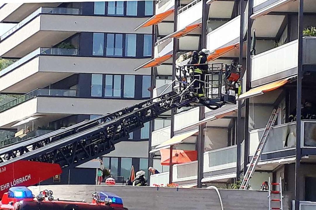 Schnell gelöscht war ein Wohnungsbrand im Leibnizweg in Lörrach.  | Foto: Willi Adam