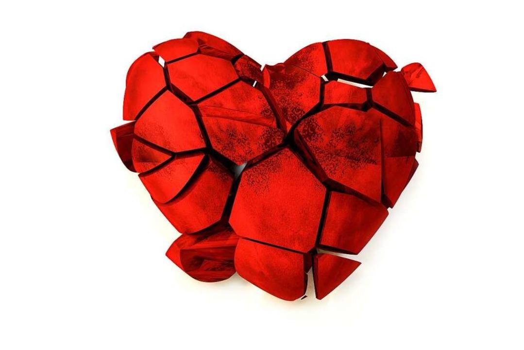 Können Herzen wirklich brechen? Nein, ...kann dem Herzen aber trotzdem schaden.    Foto: Roman Milert