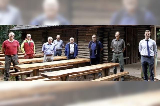 Sitzgarnituren bei der Lendersbachhütte